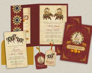indian wedding invitation the agra collection gatefold With indian wedding invitations with inserts