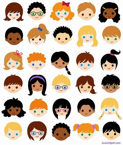 Faces Clipart Clip Multicultural Classroom Children Face