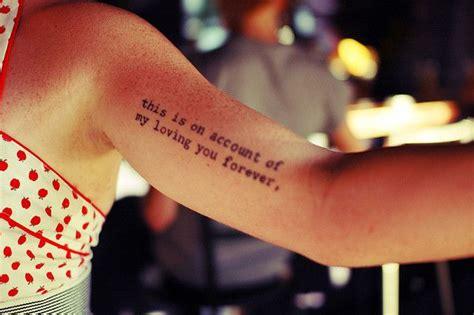 simple black quote tattoo  arm tattoomagz tattoo