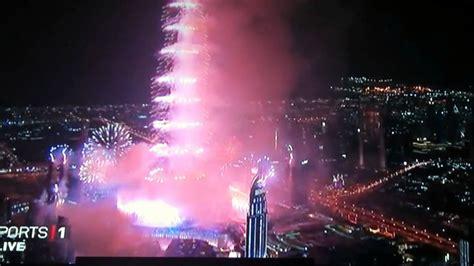 fireworks  burj khalifa dubai  year eve full hd