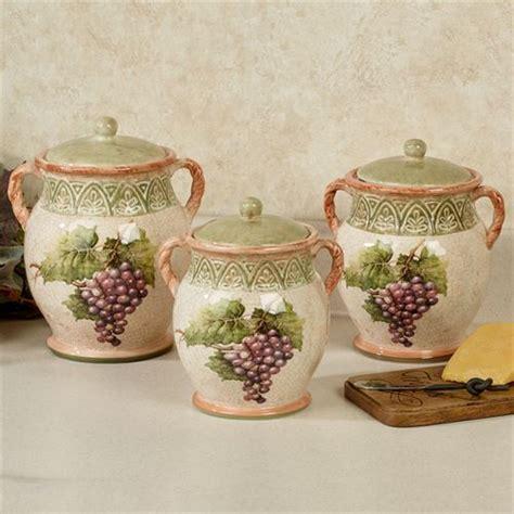 sanctuary wine grapes kitchen canister set