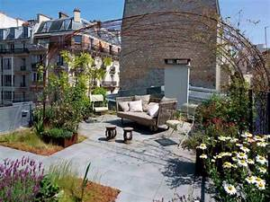 un toit terrasse transforme en cocon vegetal et apaisant With amenagement terrasse de toit