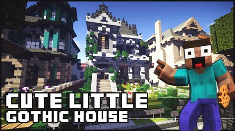minecraft cute  gothic house   surprise youtube