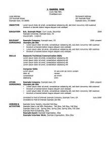 free copy of professional resume copy of professional resume student resume template