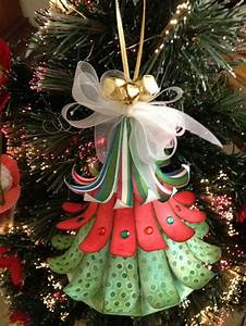 Craft, Creations, 3d, Hanging, Christmas, Tree, Ornament
