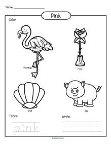 Color Black Worksheets Printable