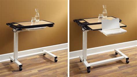 sharper image best over bed table overbed adjustable tilt table image gallery overbed table
