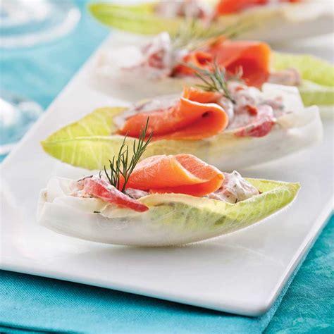 cuisiner endives endives farcies au saumon fumé entrées et soupes