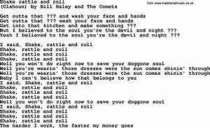 Bruce Springsteen Song Shake Rattle And Roll Lyrics