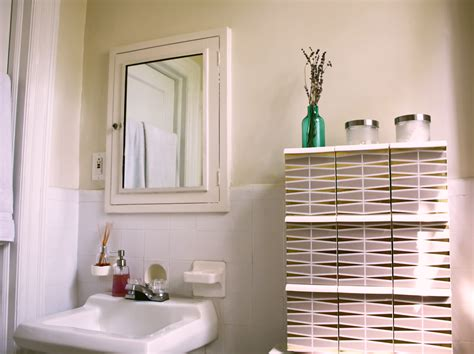How To Decorate A Bathroom Wall - interior design q a diy bathroom cabinet vitamin box