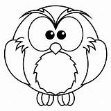 Owl Coloring Pages Preschool Easy Owls Cute Snowy Coloringbay Comments sketch template
