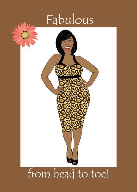 birthday card  women beautiful curvy black african