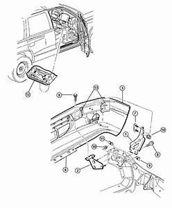 2000 Dodge Durango Bracket  Bumper To Frame Rail  Left