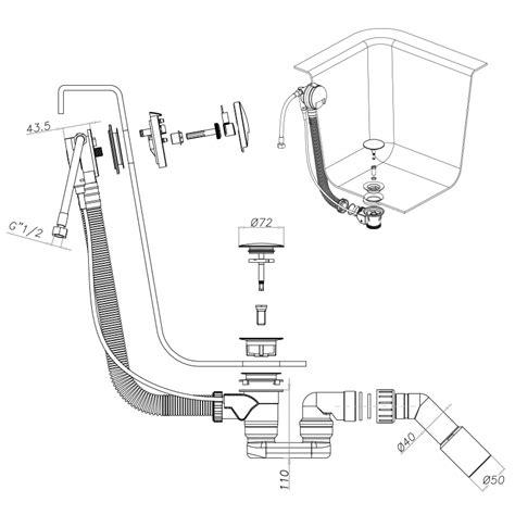 Badewannen Ablaufgarnitur Cgs Tk152 Mit Überlauf Und