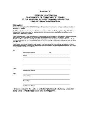 letter  undertaking sample fill  printable