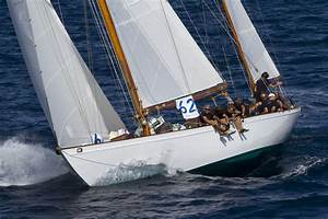 Sailing yacht Manitou, once owned by US President John ...