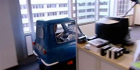 retro  worlds smallest car    road