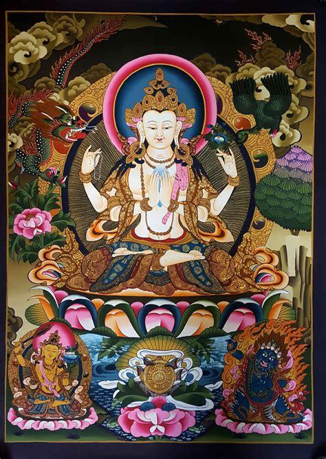 tibetan thangka chenrezig thangka vajrapani