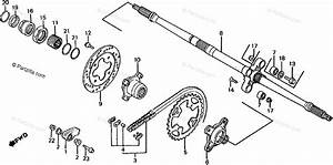Honda Atv 1986 Oem Parts Diagram For Rear Wheel Axle
