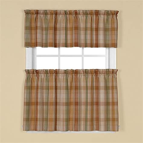 rust colored kitchen curtains cooper window curtain tier pairs and valance bed bath 4956