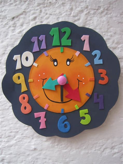 como hacer un reloj de fomix mis cositas en goma reloj para aprender la hora