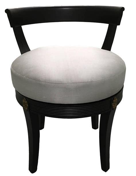regency style black swivel vanity stool at 1stdibs