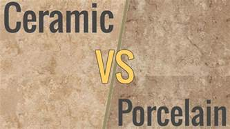 the difference between ceramic porcelain tile
