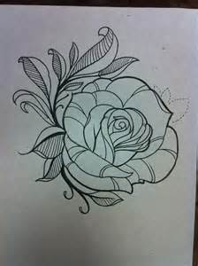 Rose Tattoo Outline Designs