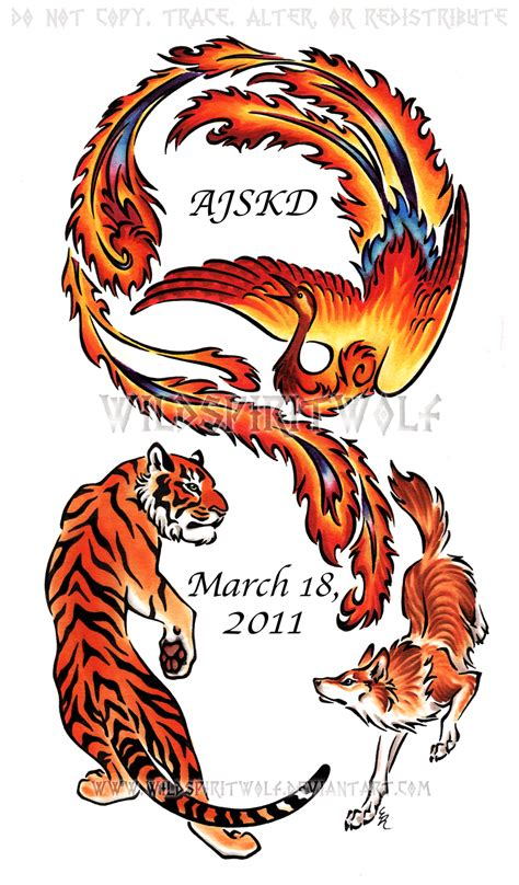 tiger wolf phoenix copic art  wildspiritwolf  deviantart