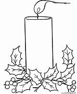 Candle Christmas Coloring Pages Drawing Birthday Light Candles Wind Advent Printable Lights Blowing Melting Blow Print Drawings Clipart Pencil Template sketch template