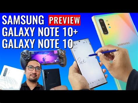 pertama kali pegang samsung galaxy note 10 dan note 10 menu kamera harga indonesia youtube
