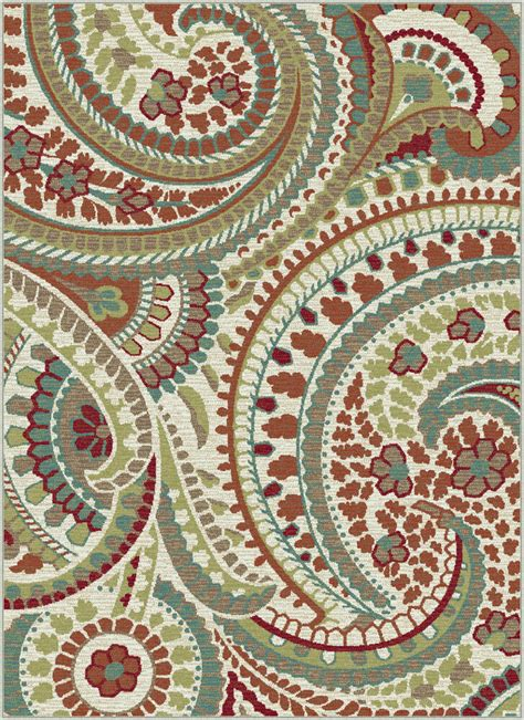 Paisley Rugs Sale by Ivory Transitional Paisley Area Rug Floral Leaves Multi
