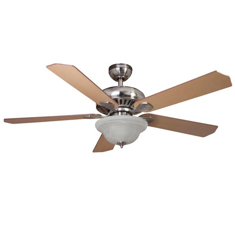 Brushed Nickel Ceiling Fan With Remote by Shop Harbor 52 In Brushed Nickel Downrod Or