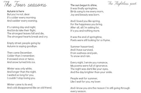 The Four Seasons, A Poem By Me.