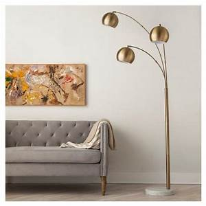 3 globe arc floor lamp in brass With 3 globe arc floor lamp antique brass