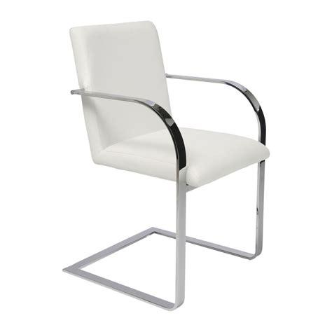 chaise avec accoudoir but chaise avec accoudoirs moderne blanche canto kare design