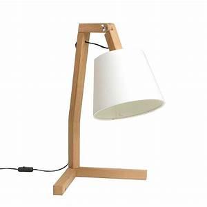 Lampe Bois Design : lampe de table design en bois oud s paul bellila ~ Teatrodelosmanantiales.com Idées de Décoration