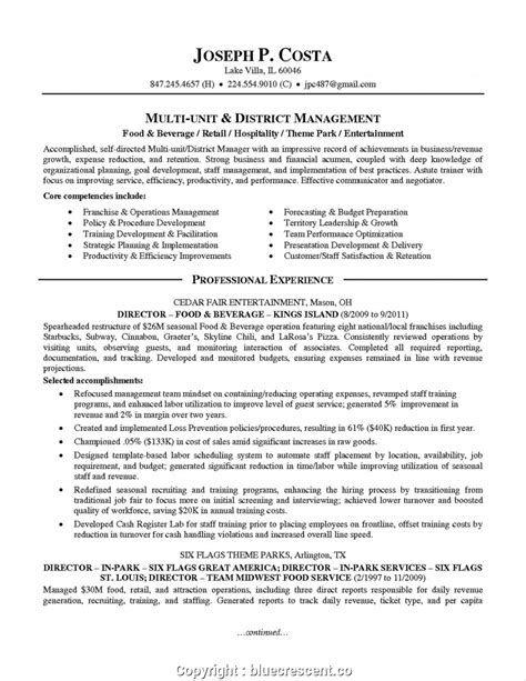 Resume F B Director by Make F B Manager Cv Sle Ideas Food And Beverage Manager