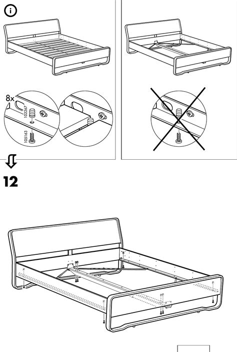 Ikea Bed Gebruiksaanwijzing by Handleiding Ikea Anes Bed Pagina 12 12 Nederlands