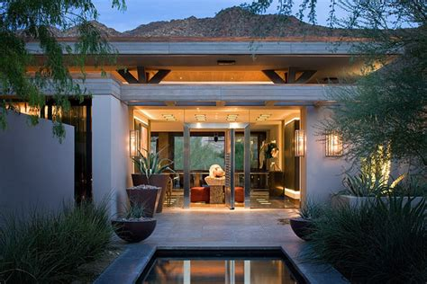 modern desert home modern patio orange county