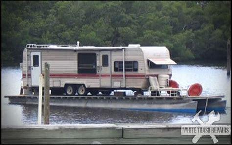 Trash Boat Ideas by House Boat Whitetrashrepairs