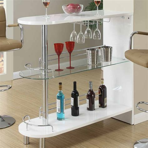 pub table with wine rack contemporary home pub white high gloss bar table glass