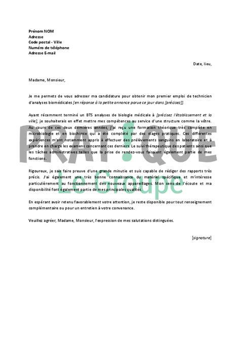 modele lettre de motivation technicien lettre de motivation pour un emploi de technicien d