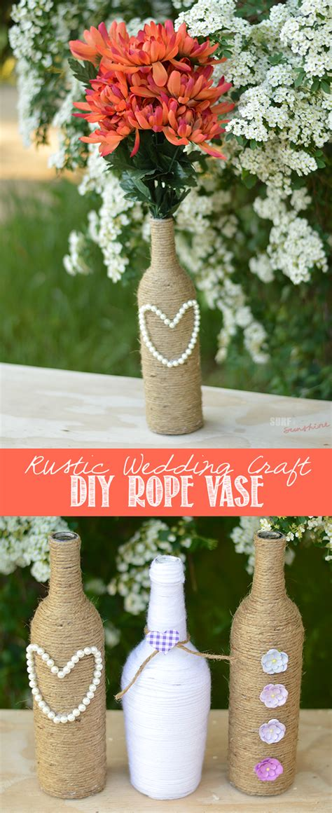 Diy Wine Bottle Centerpieces Rustic Wedding Craft Ww