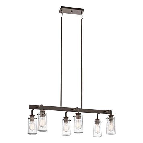 shop kichler lighting braelyn 34 in w 6 light olde bronze