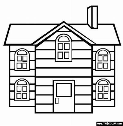Case Pages Coloring Desenat Casa Nursing Cu