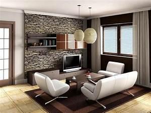 Wandgestaltung Wohnzimmer Erdtöne : coole wandgestaltung f rs wohnzimmer ~ Markanthonyermac.com Haus und Dekorationen