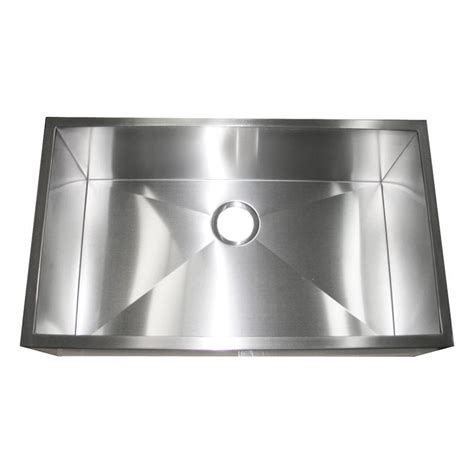 stainless apron front sink 32 inch stainless steel flat front farm apron single bowl