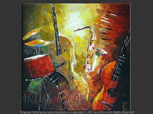 Jazz Music Instruments Painting