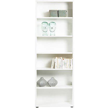 30 Inch White Bookcase by Fairfax 5 Shelf Wide Bookcase White Walmart